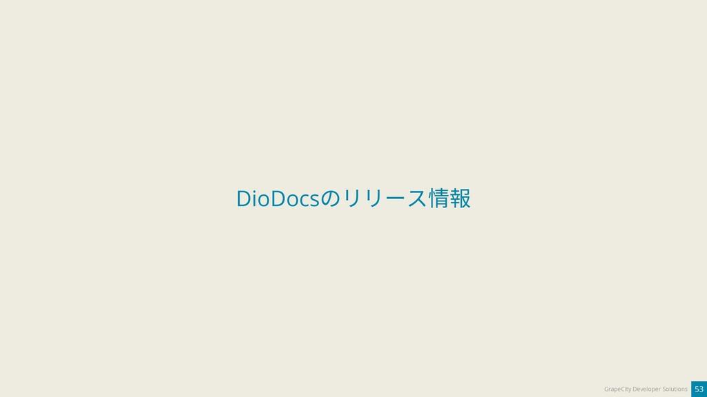 53 GrapeCity Developer Solutions DioDocsのリリース情報