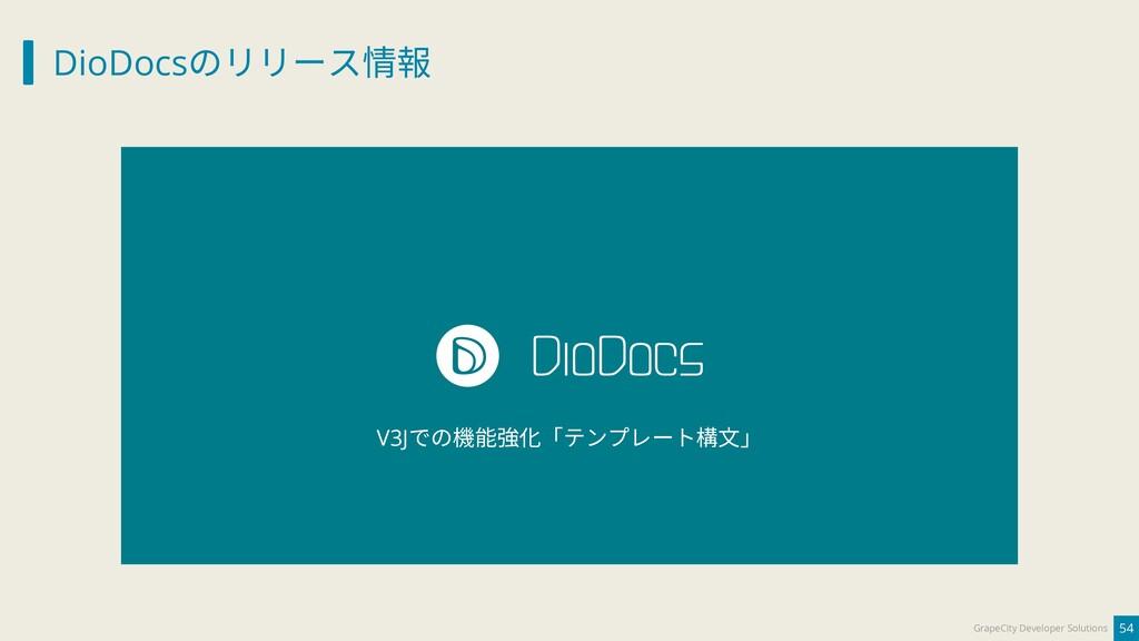DioDocsのリリース情報 54 GrapeCity Developer Solutions...