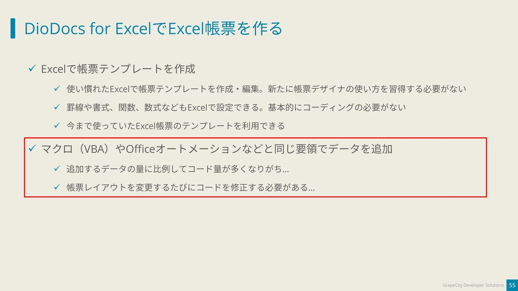 DioDocs for ExcelでExcel帳票を作る 55 GrapeCity Devel...