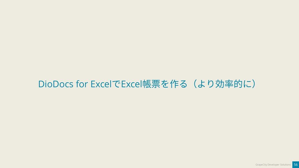 56 GrapeCity Developer Solutions DioDocs for Ex...