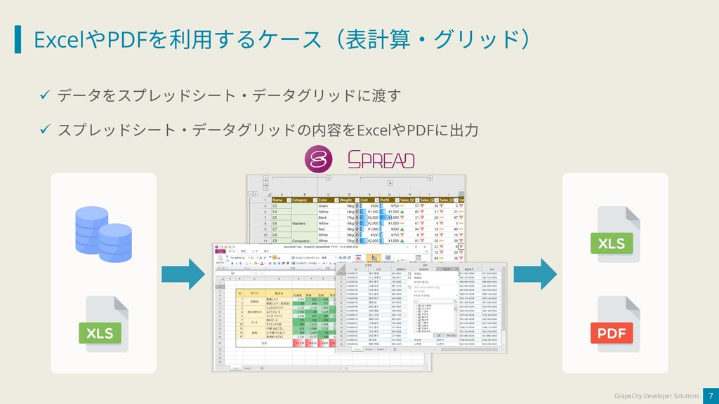 ExcelやPDFを利用するケース(表計算・グリッド) 7 GrapeCity Develop...