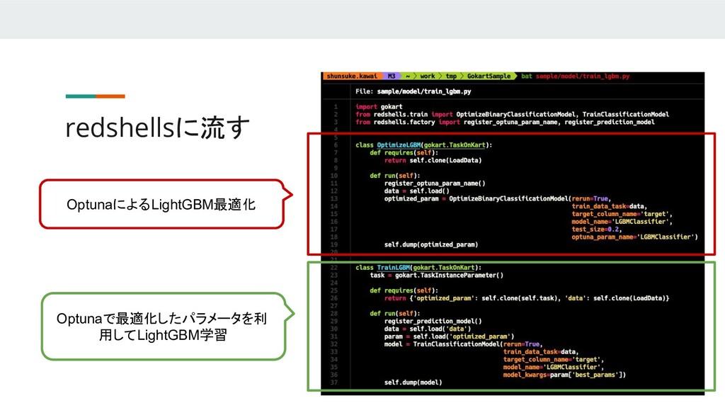 redshellsに流す OptunaによるLightGBM最適化 Optunaで最適化したパ...