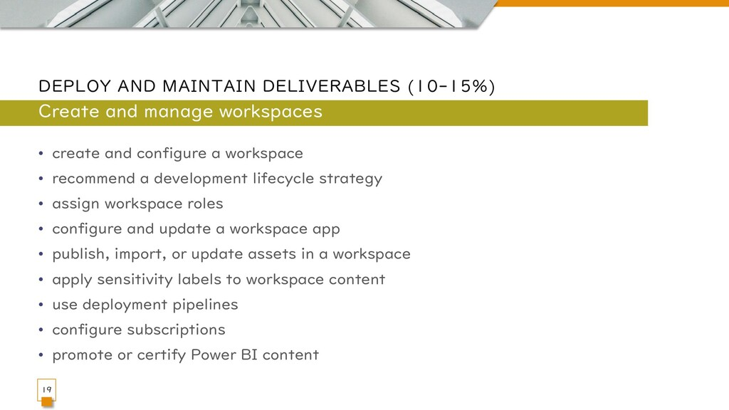 DEPLOY AND MAINTAIN DELIVERABLES (10-15%) • cre...