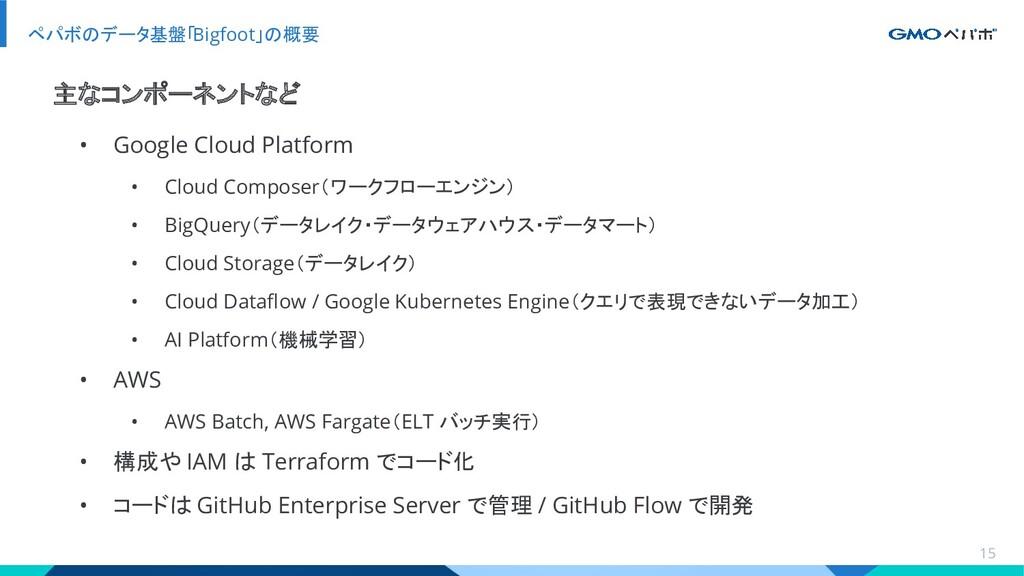• Google Cloud Platform • Cloud Composer(ワークフロー...