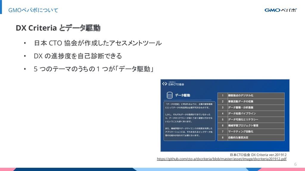 • 日本 CTO 協会が作成したアセスメントツール • DX の進捗度を自己診断できる • 5...