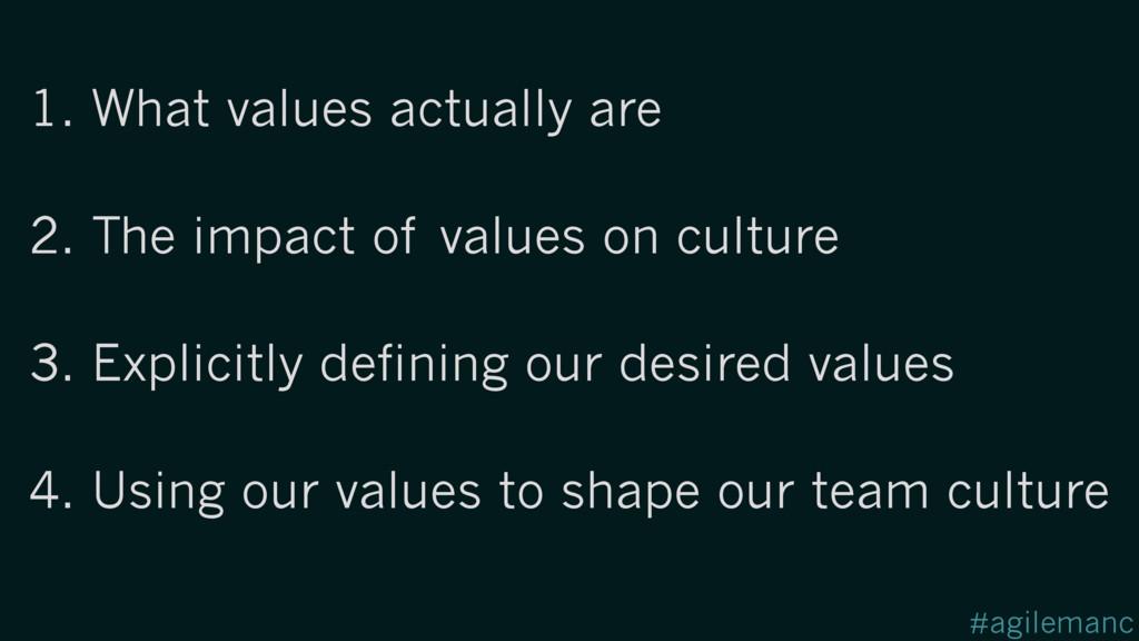 #agilemanc 2. The impact of values on culture 1...