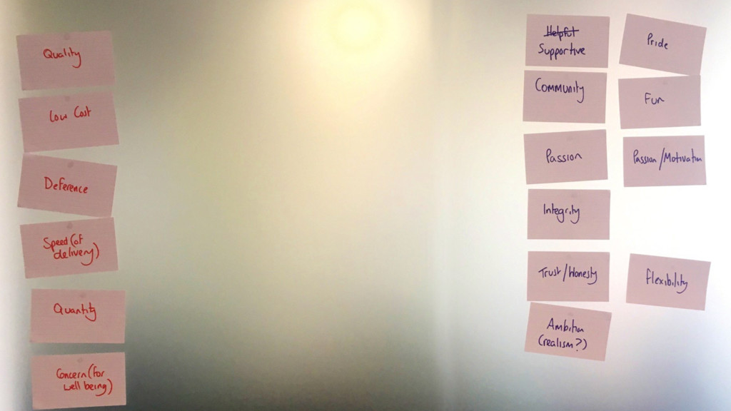 #agilemanc Within the group define two sets of ...