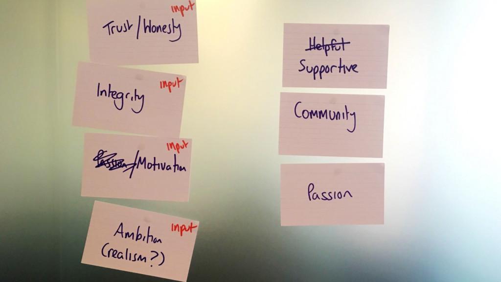 #agilemanc Values and inputs