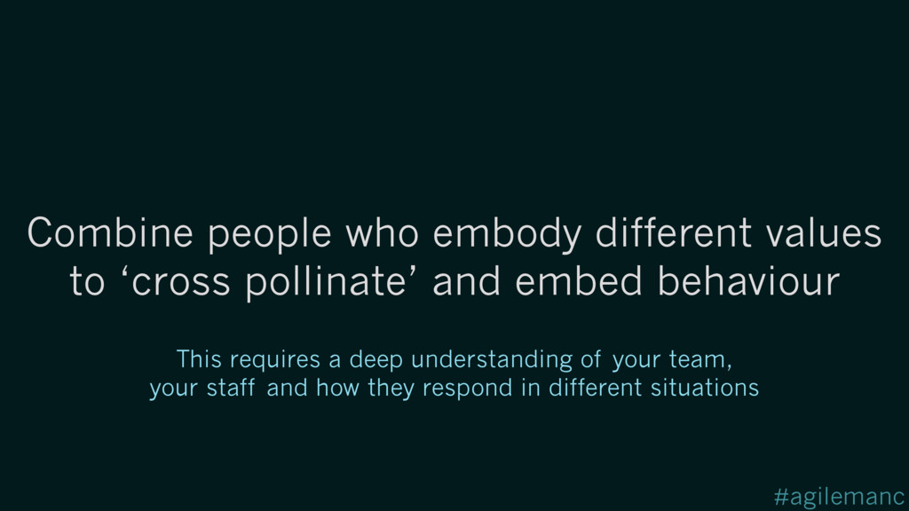#agilemanc Combine people who embody different ...
