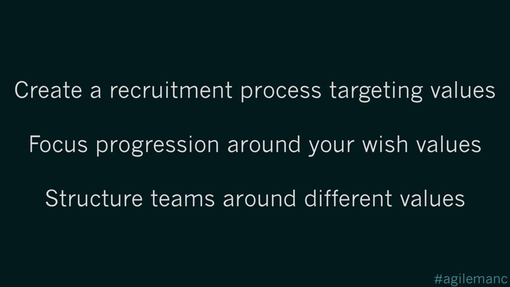 #agilemanc Create a recruitment process targeti...