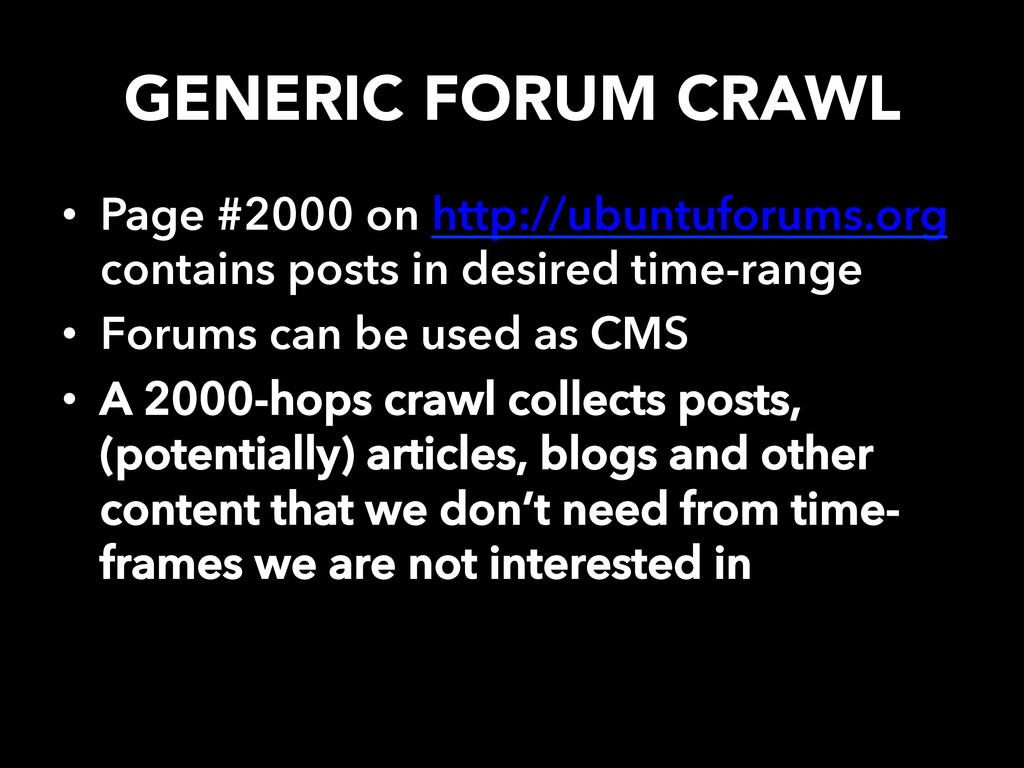 GENERIC FORUM CRAWL • Page #2000 on http://ub...