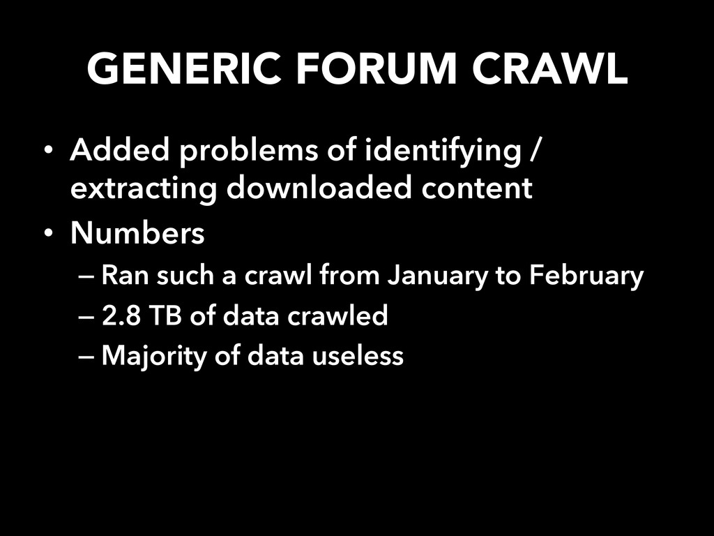 GENERIC FORUM CRAWL