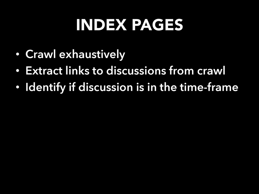 INDEX PAGES