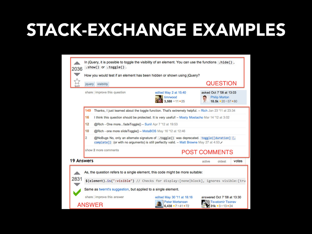 STACK-EXCHANGE EXAMPLES