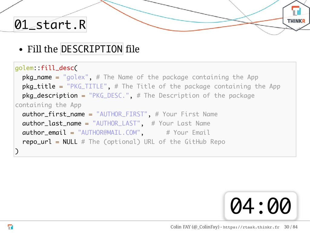 01_start.R Fill the DESCRIPTION file golem::fil...