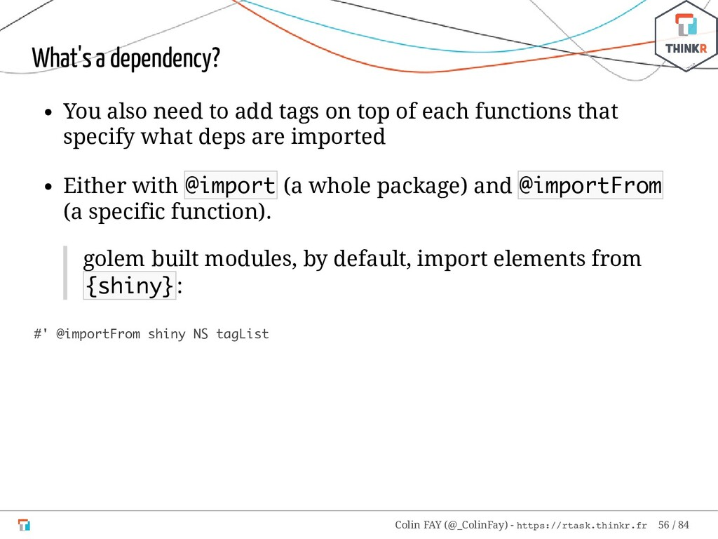 What's a dependency? You also need to add tags ...