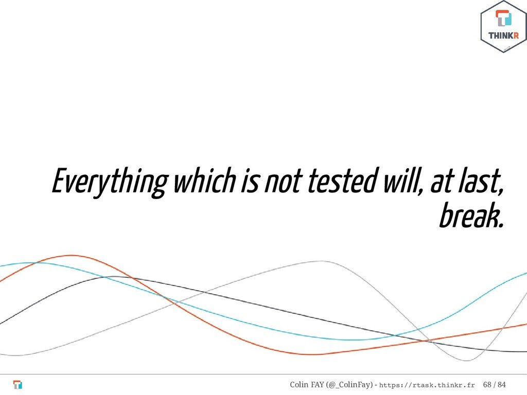 Everything which is not tested will, at last, b...