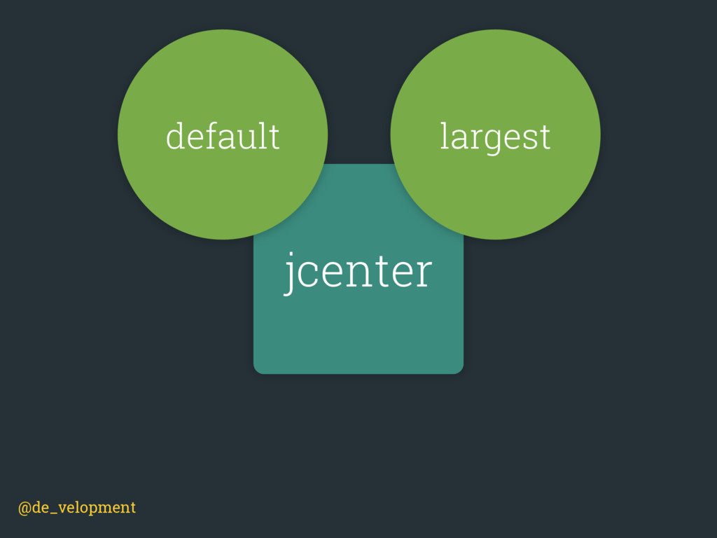 jcenter default largest @de_velopment