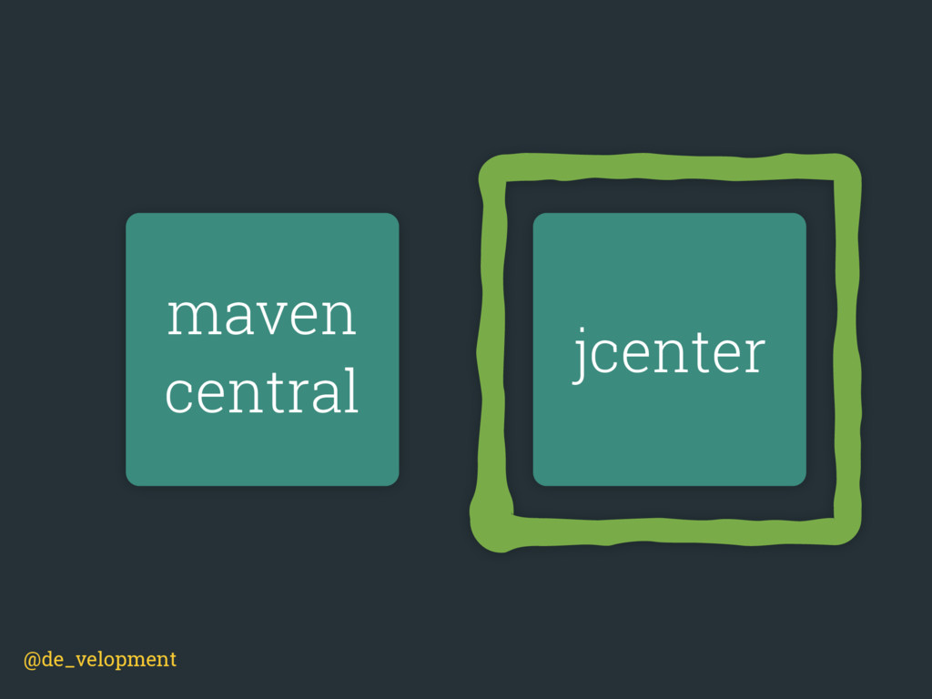 maven central jcenter @de_velopment