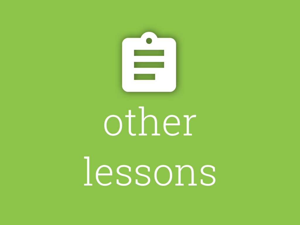 other lessons $