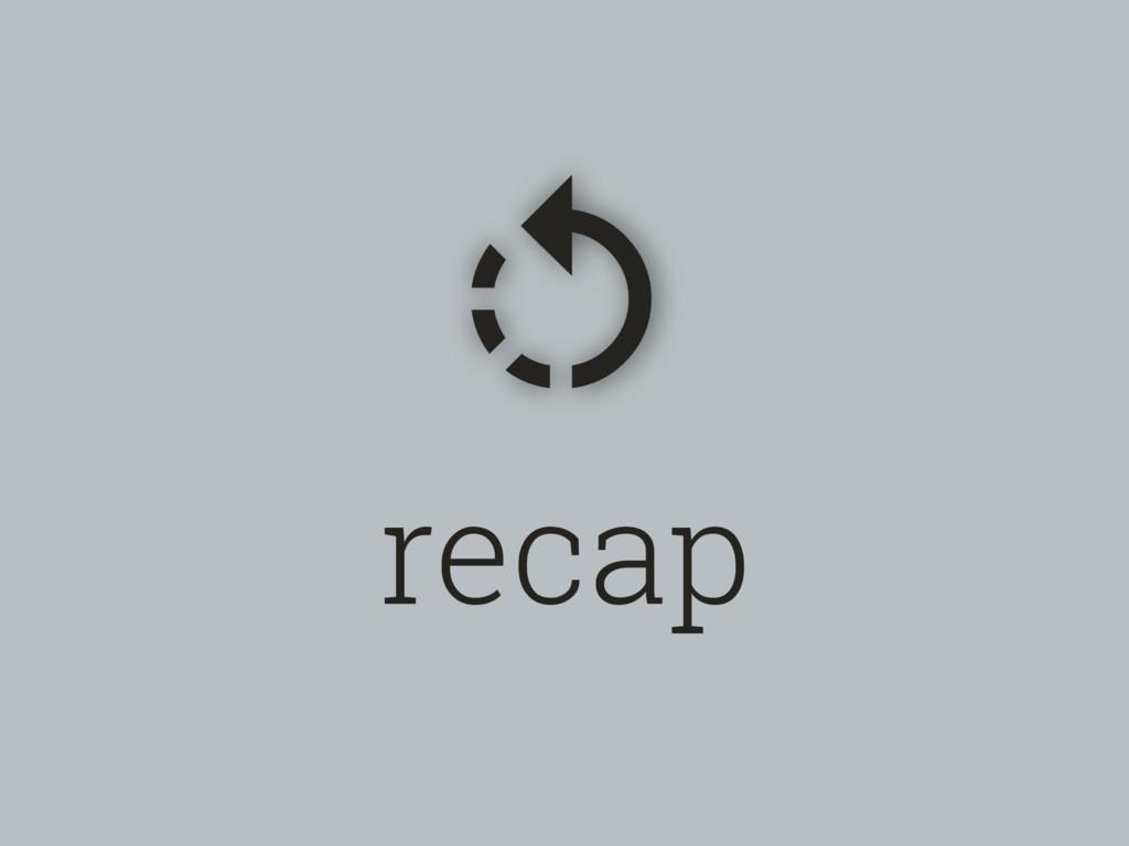 recap %
