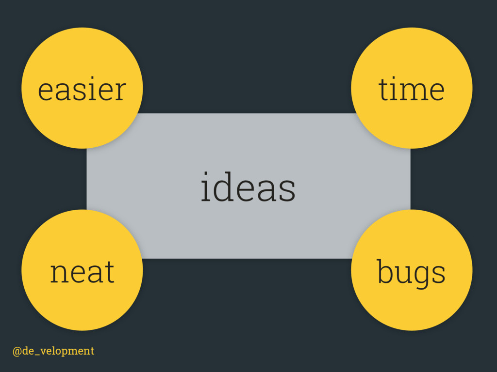 @de_velopment ideas easier time bugs neat