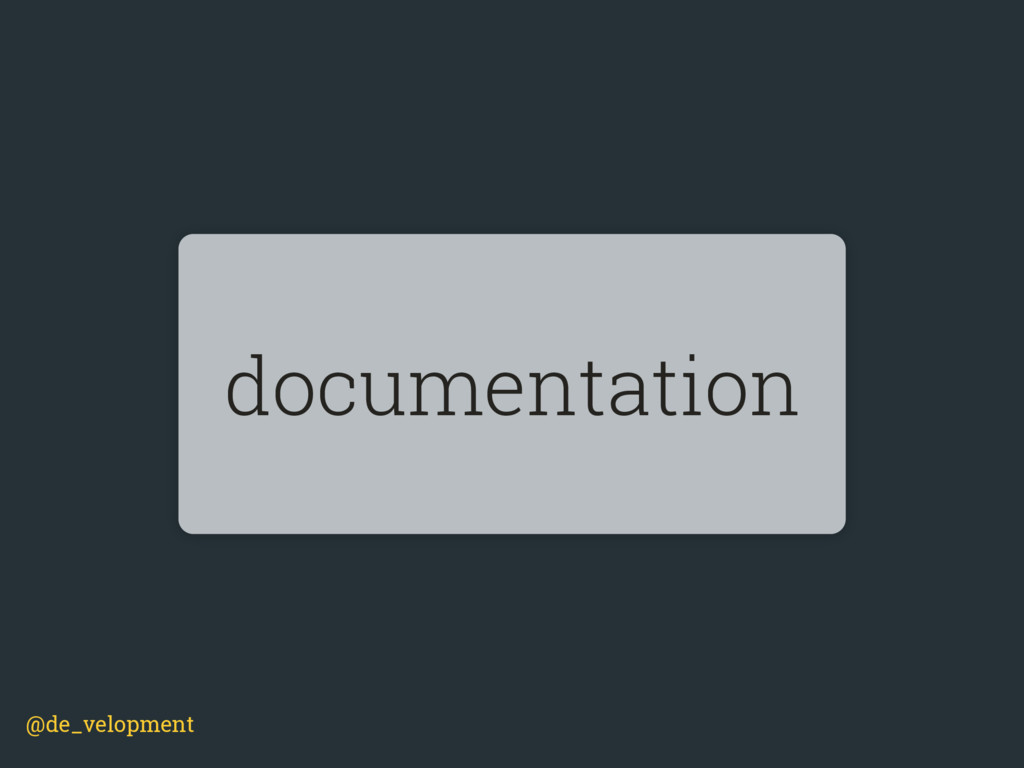 @de_velopment documentation
