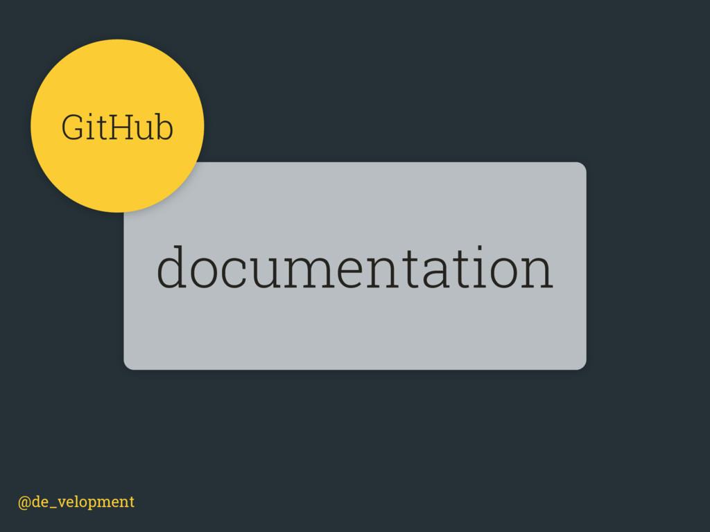 @de_velopment documentation GitHub