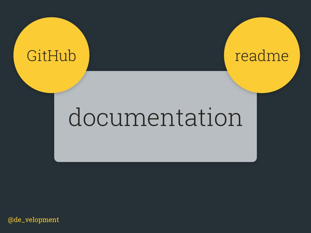 @de_velopment documentation GitHub readme