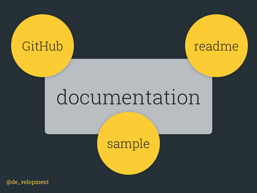 @de_velopment documentation GitHub readme sample