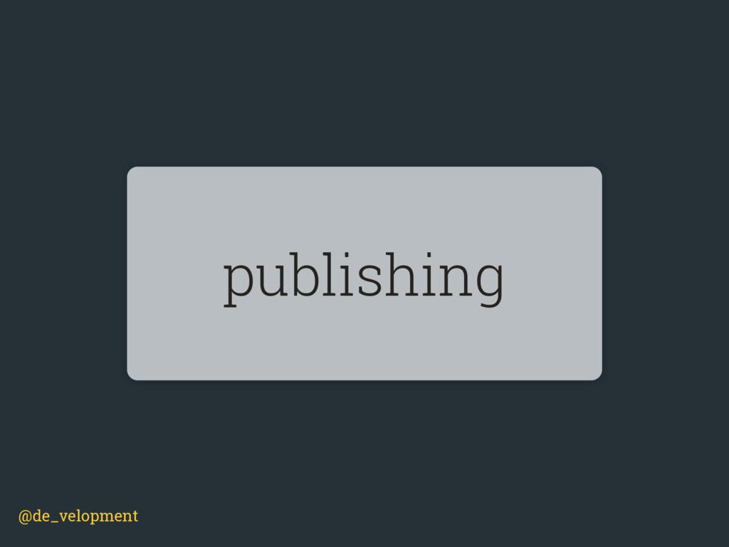 @de_velopment publishing