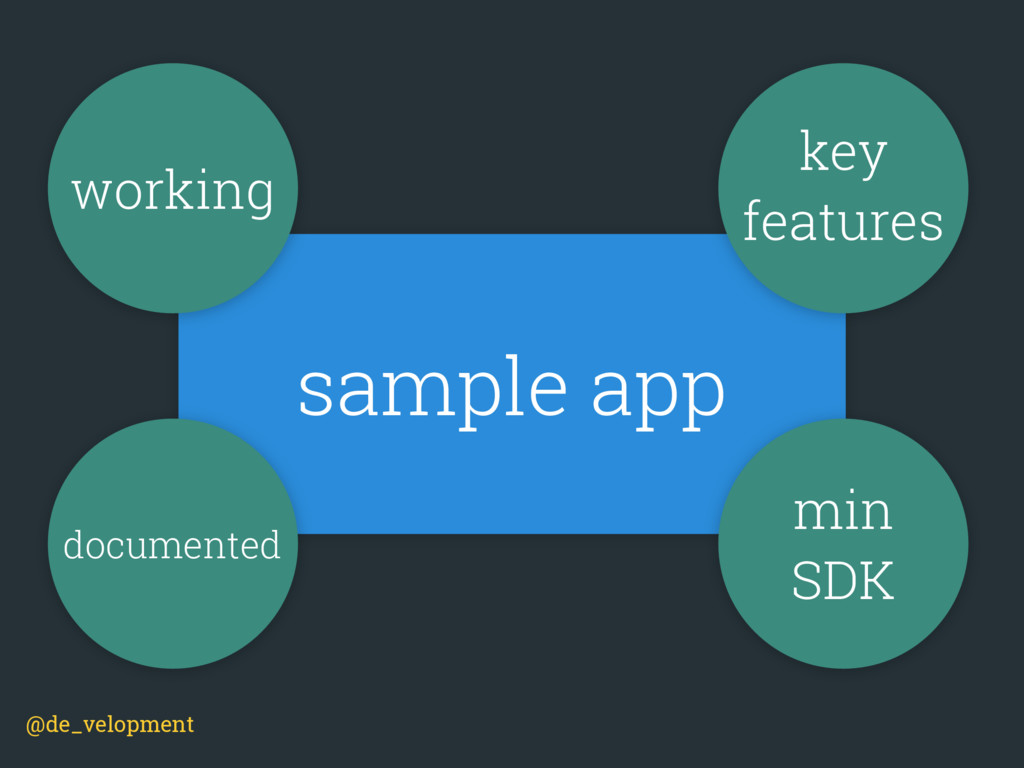 sample app @de_velopment working key features m...