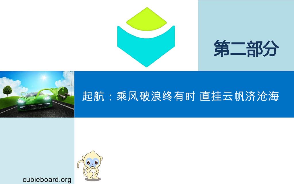 第二部分 起航:乘风破浪终有时 直挂云帆济沧海 cubieboard.org