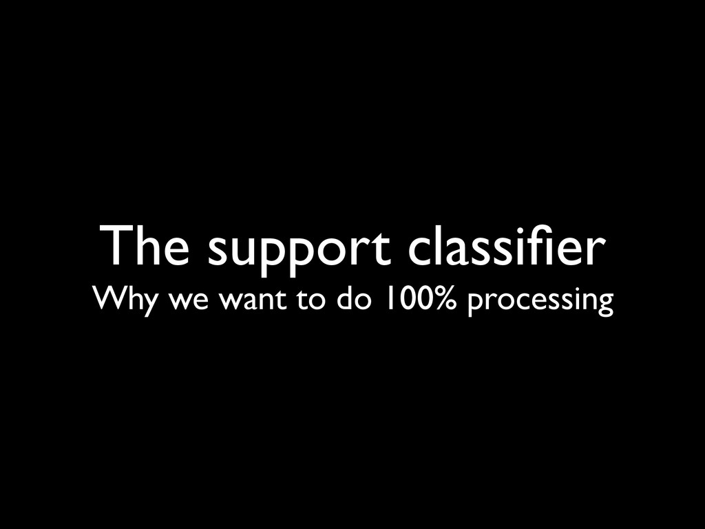 The support classifier Why we want to do 100% pr...