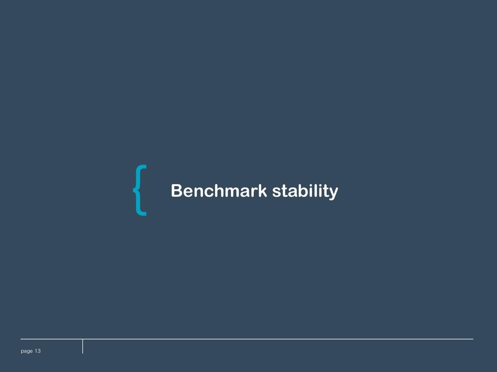 QBHF Benchmark stability \