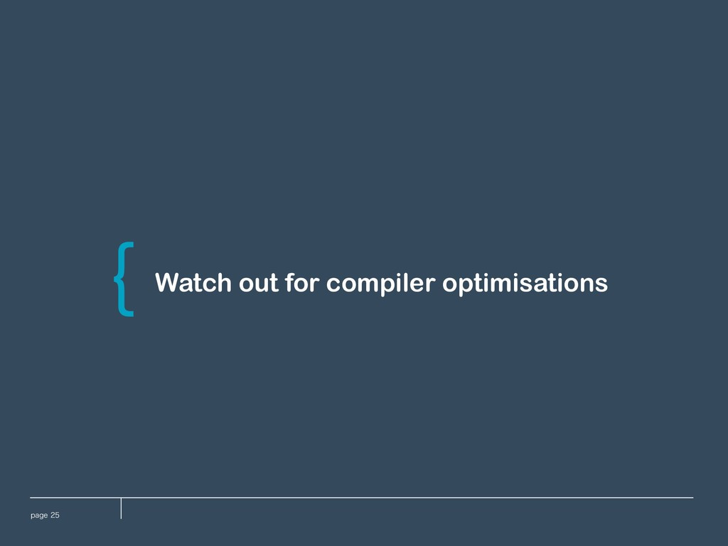 QBHF Watch out for compiler optimisations \