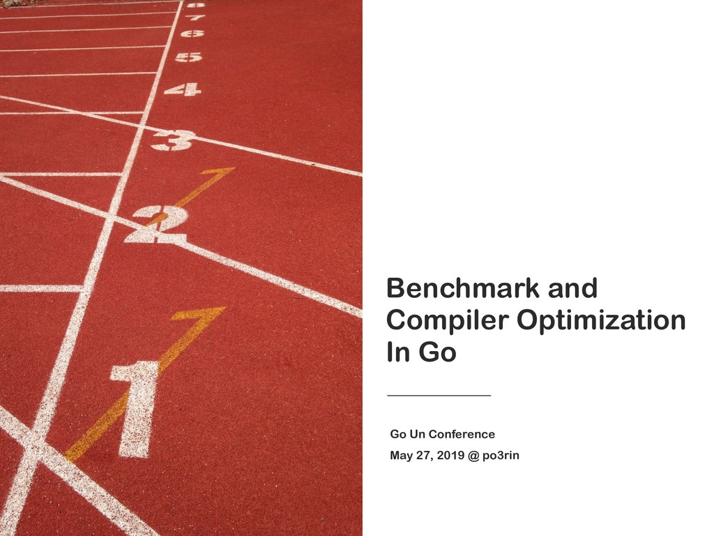 Benchmark and Compiler Optimization In Go Go Un...