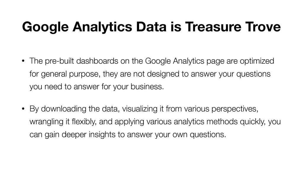 Google Analytics Data is Treasure Trove • The p...