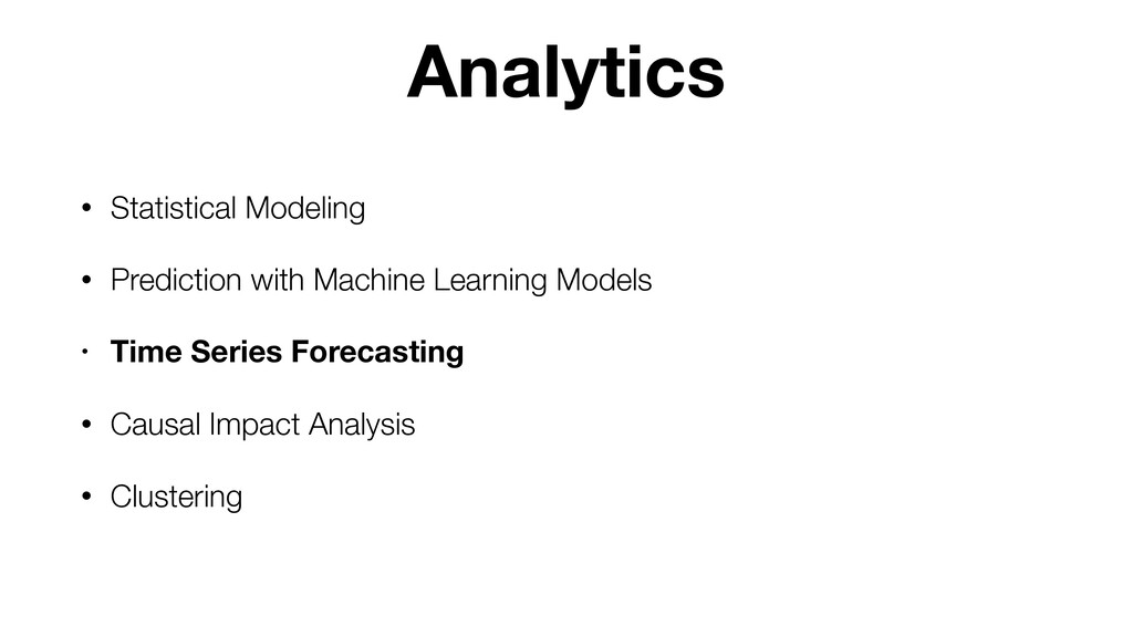 • Statistical Modeling • Prediction with Machin...