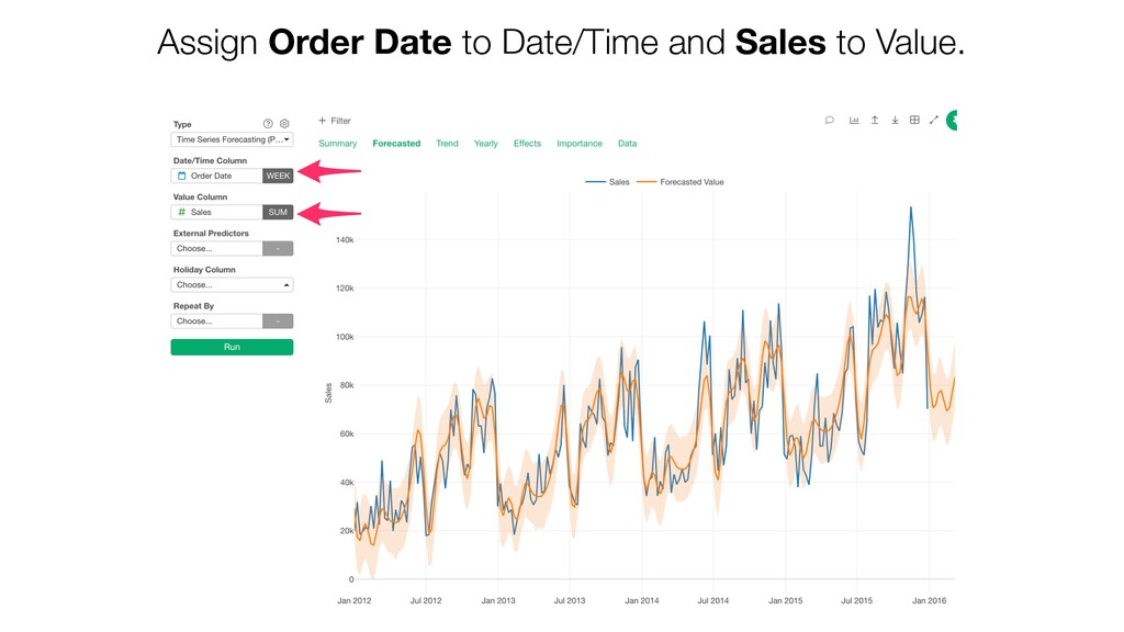 Assign Order Date to Date/Time and Sales to Val...