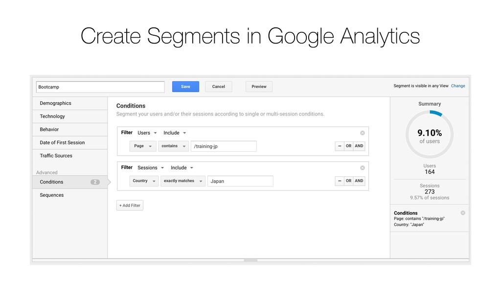 Create Segments in Google Analytics