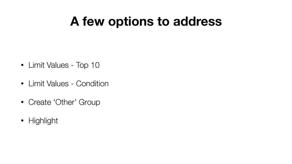 • Limit Values - Top 10 • Limit Values - Condit...