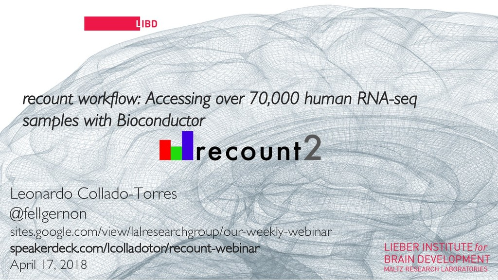 11 recount workflow: Accessing over 70,000 huma...