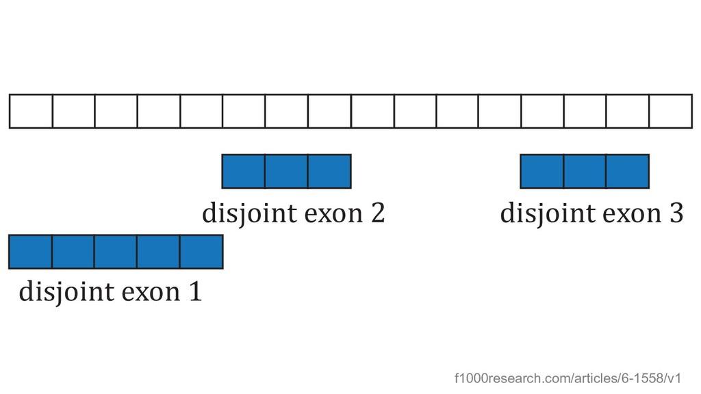 disjoint exon 1 disjoint exon 2 disjoint exon 3...