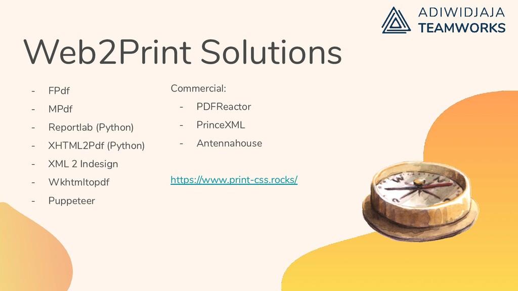 Web2Print Solutions - FPdf - MPdf - Reportlab (...