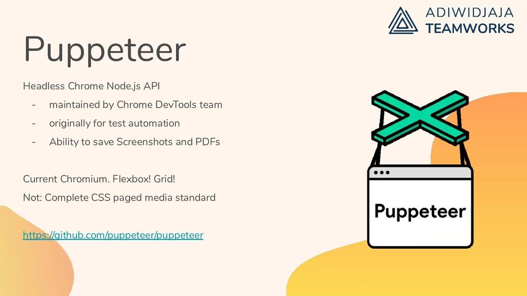 Puppeteer Headless Chrome Node.js API - maintai...