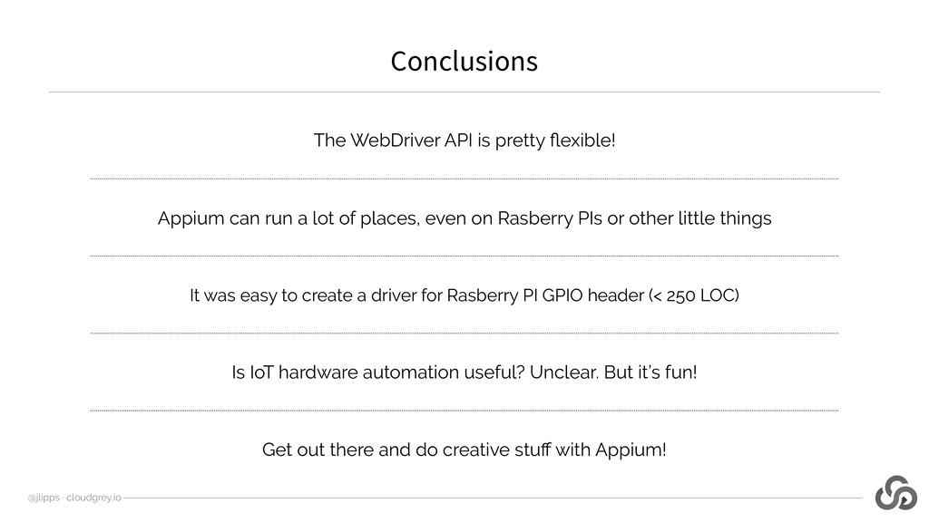 The WebDriver API is pretty flexible! Appium can...