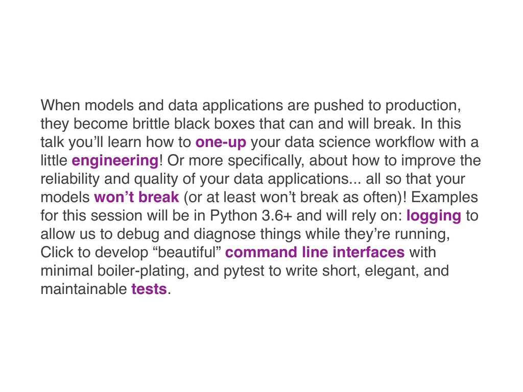 When models and data applications are pushed to...