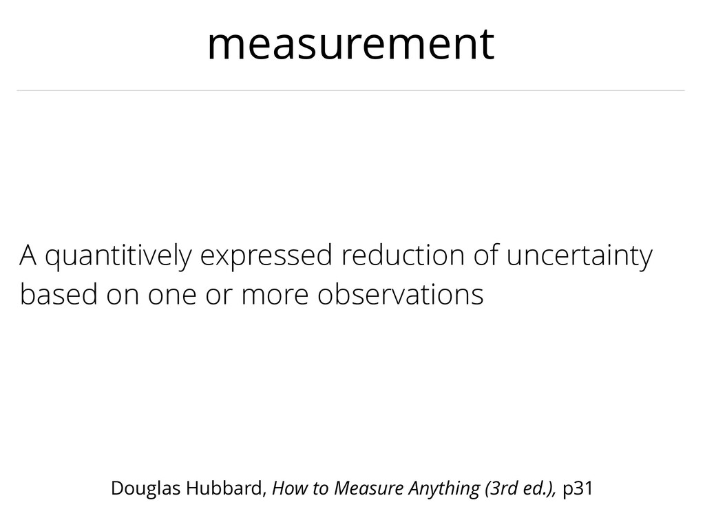 measurement A quantitively expressed reduction ...