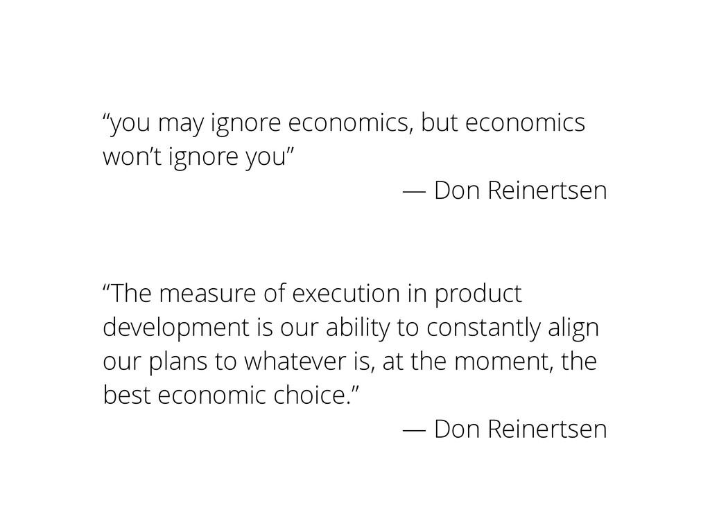 """you may ignore economics, but economics won't ..."